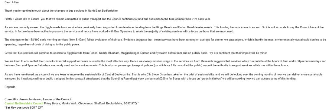 Councillor Jamieson Response 090919