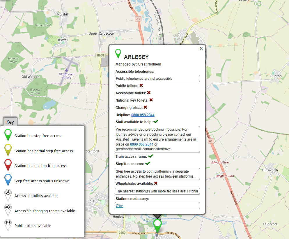Arlesey Fab Map Description